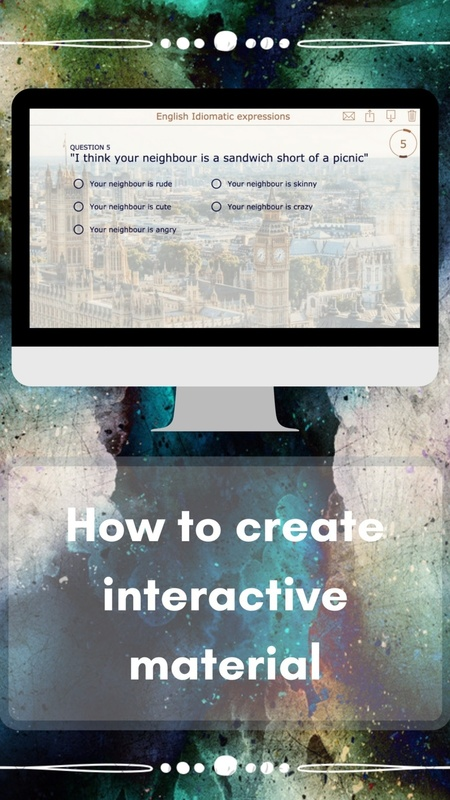 How to create interactive material